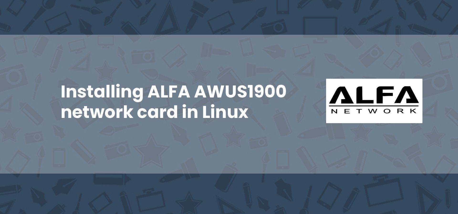 ALFA AWUS1900 Kali Linux